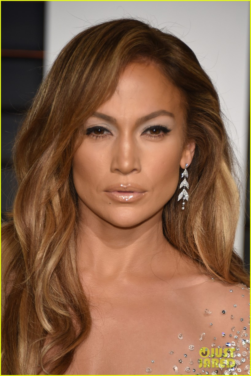 Jennifer Lopez Stuns In Sheer Dress At Oscars After Party
