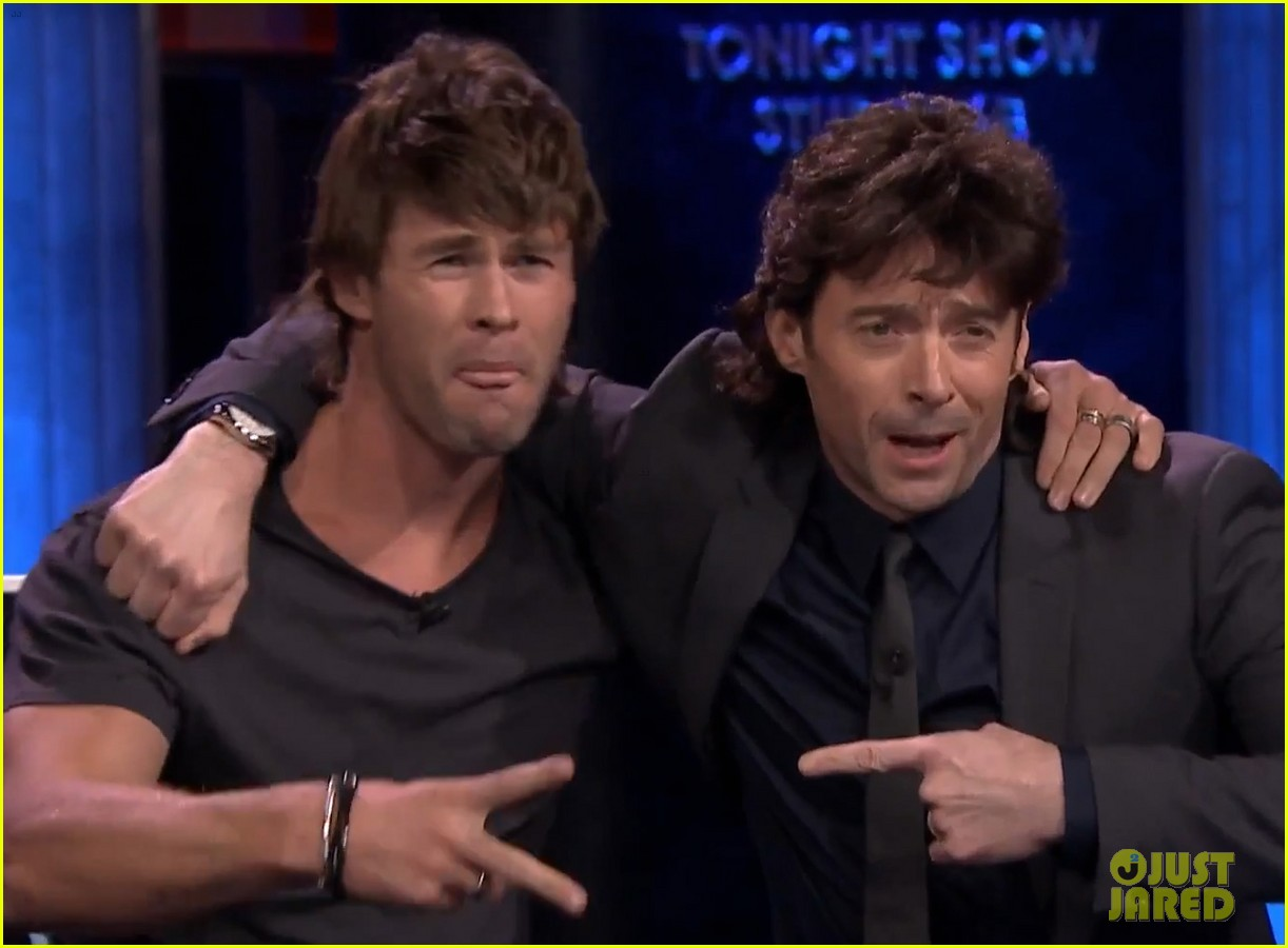 chris hemsworth hugh jackman fallon mullets 043319583