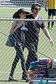 angelina jolie brad pitt share a kiss shilohs soccer game 01