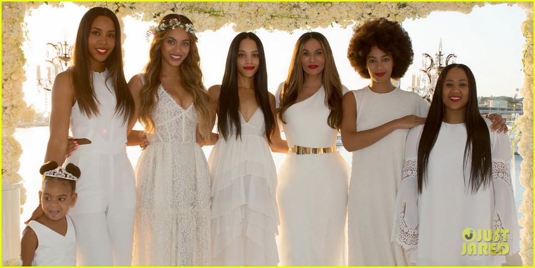 Beyonce Jay Z Blue Ivy Make Funny Faces At Tina Knowles Wedding Photo 3355122 Alan Ferguson Bianca Lawson Carter