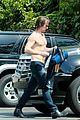 colin farrell shirtless sweaty yoga 33