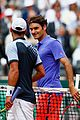 roger federer is not happy after fan rushes the court 03