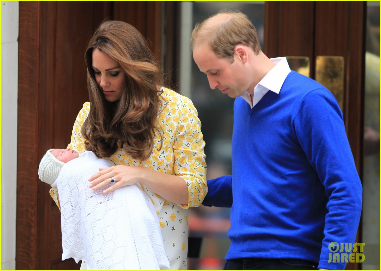 royal baby girl first appearance with kate middleton prince william 253361769