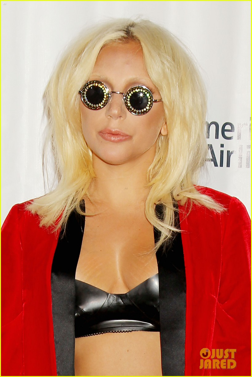 lady gaga wears bra fishnets for latest red carpet event 25