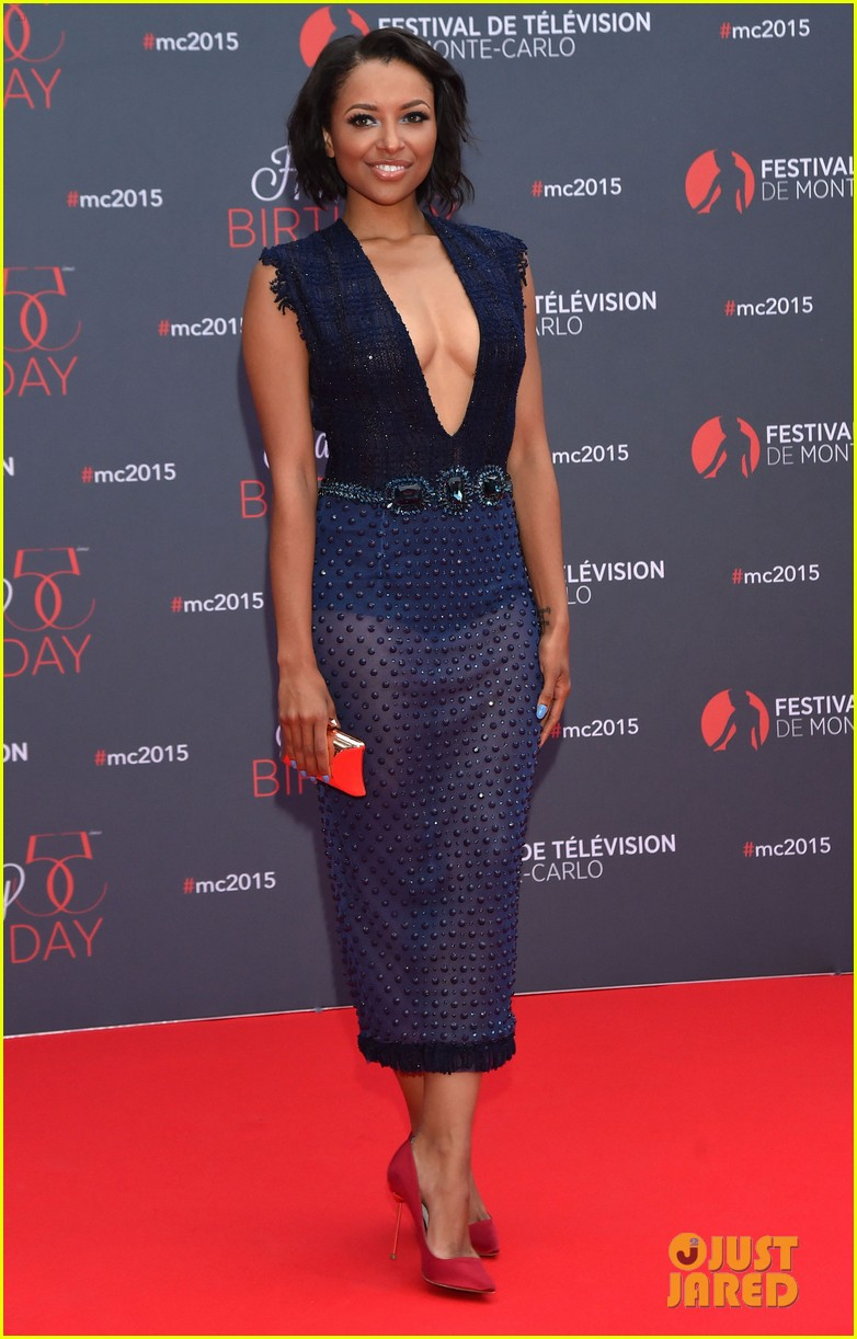 Kat Graham & Candice Accola Celebrate 55 Years Of the Monte Carlo TV ...