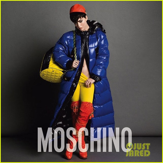 Katy Perry is the MOSCHINO face. Katy-perry-bares-a-lot-of-skin-moschino-ads-03