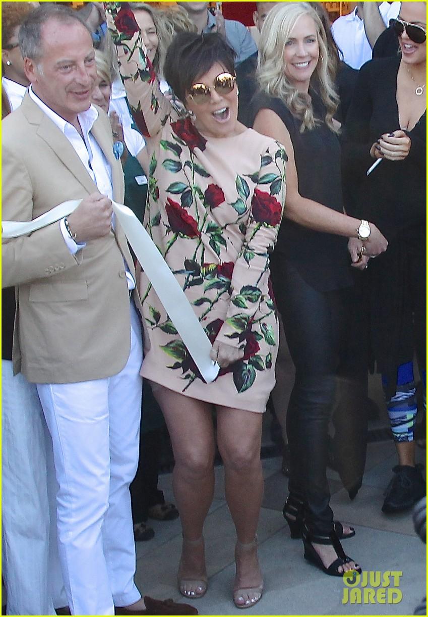 kris jenner & khloe kardashian celebrate the opening of williams