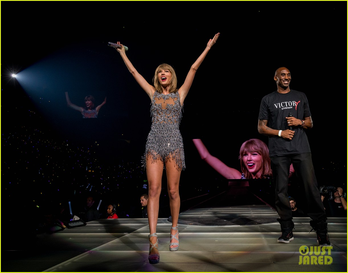 taylor swift kobe bryant ryan tedder gigi joe staples center concert night one 123443584