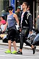 scarlett johansson works on her fitness with husband romain dauriac 11