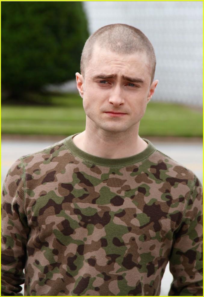 Shaved head on movie