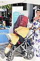 robin thicke selma blair bring their kids to car seat safety 03