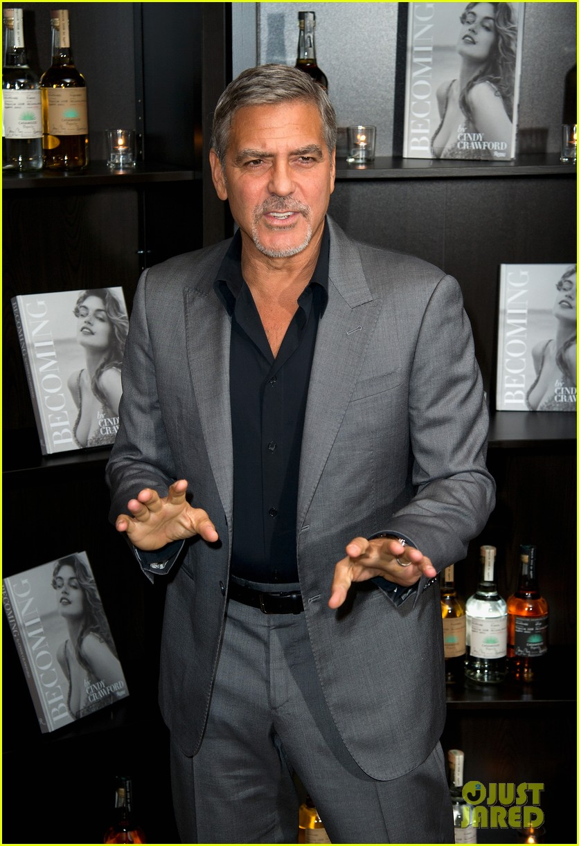 George Clooney at Launch of Casamigos/Cindy Crawford Book October 1, 2015 in London  George-clooney-dishes-on-drunken-nights-with-cindy-crawford-04