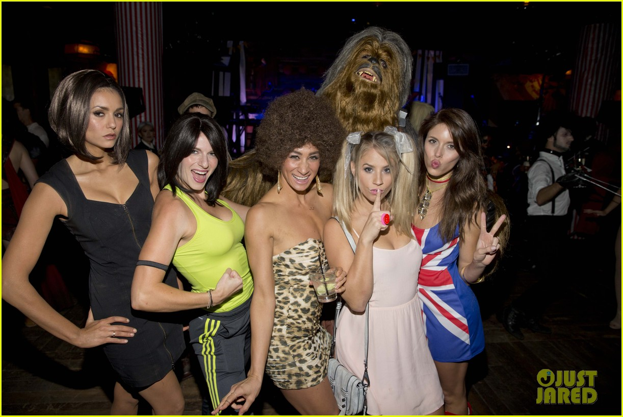 Dress up for masquerade party - Nina Dobrev Dresses As Posh Spice For Early Halloween Party Photo 3491750 2015 Halloween Ashley Fink Ashley Madekwe Chris Colfer Christa B Allen