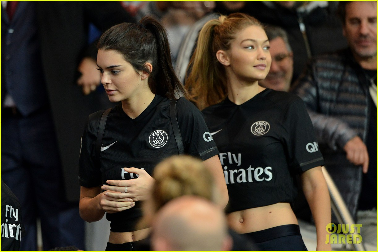 Kendall Jenner & Gigi Hadid Cheer On PSG At Their Soccer ... Kim Kardashian Surrogate