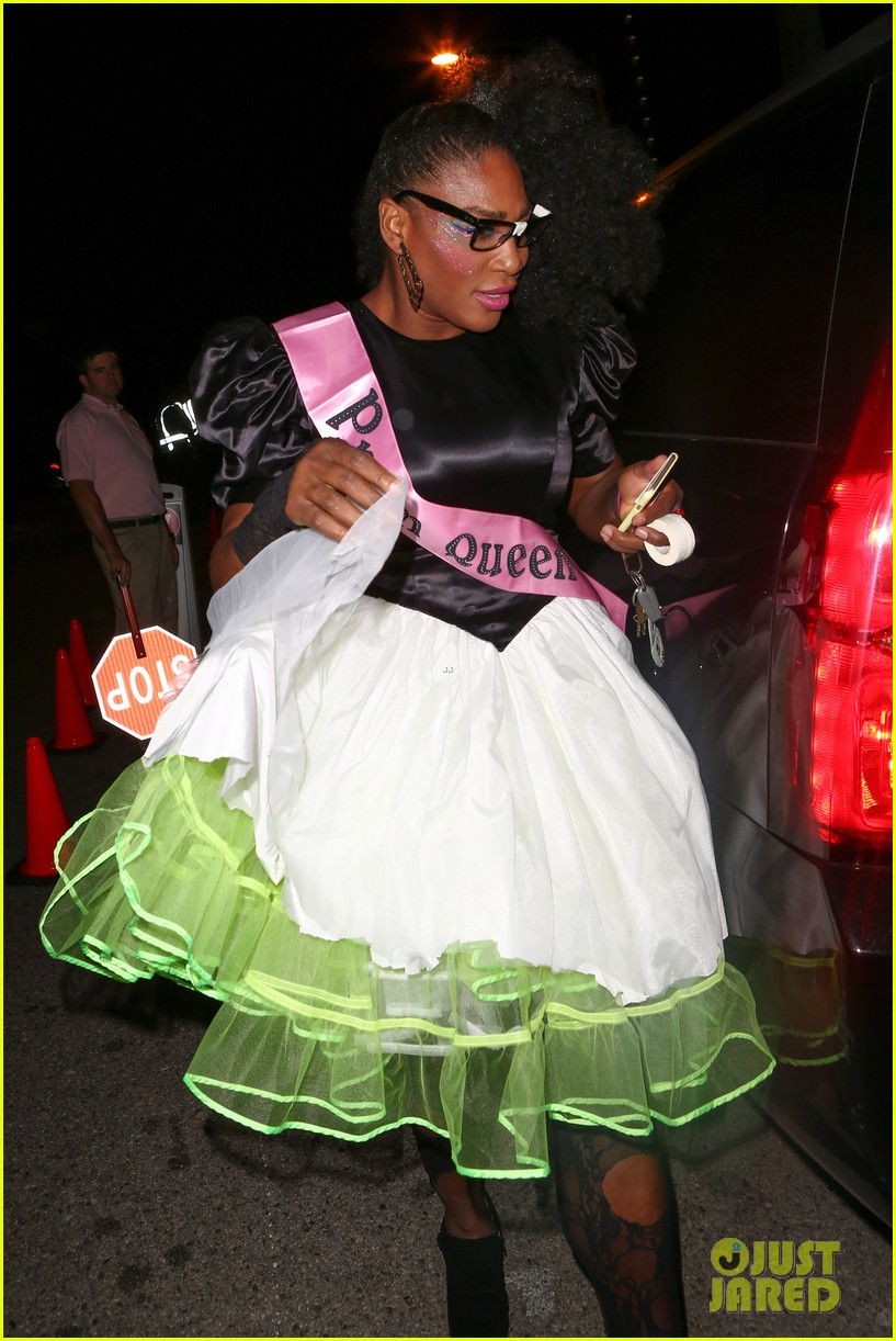Serena Williams Is An '80's Prom Queen For Halloween!: Photo ...