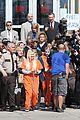 scream queens arrest orange suits lea michele eye patch 08