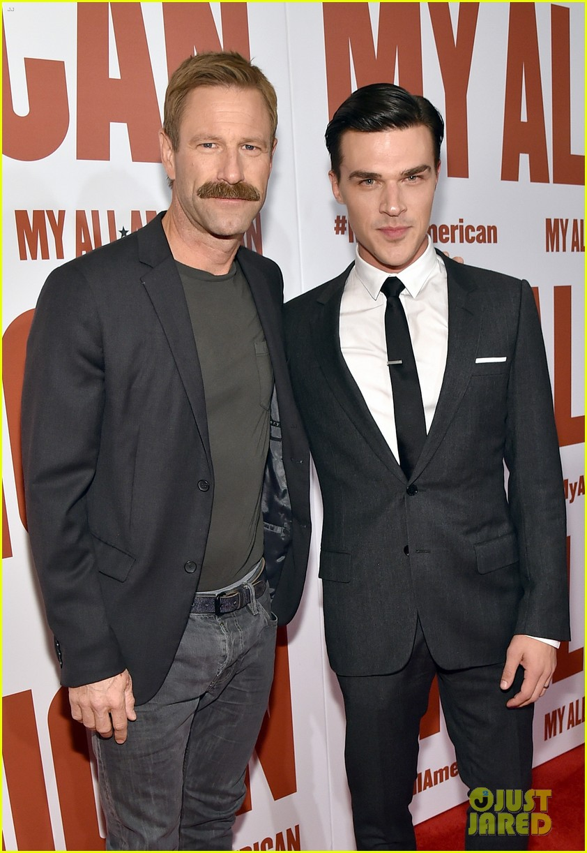 finn wittrock gets support from ahs co stars at my all american premiere 073504807