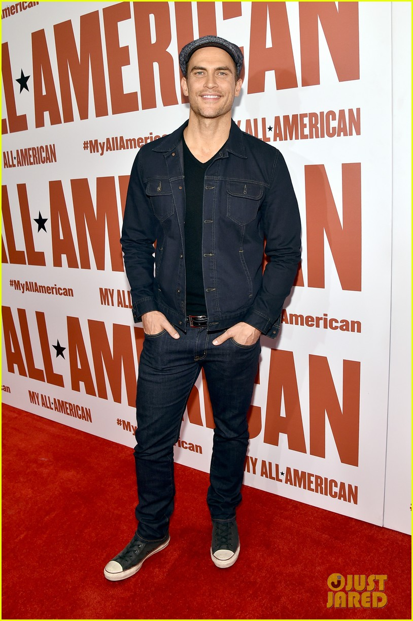 finn wittrock gets support from ahs co stars at my all american premiere 233504823