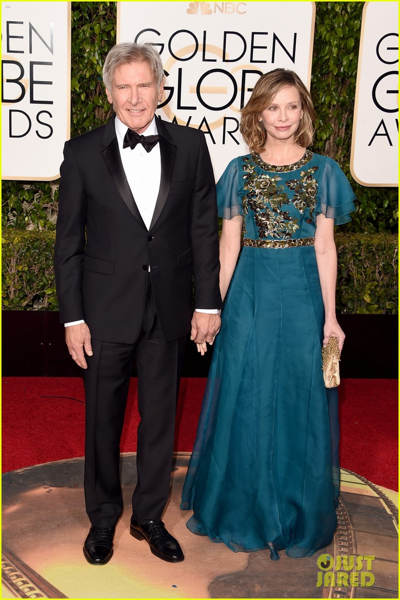 Harrison Ford & Calista Flockhart Couple Up at the Golden ...