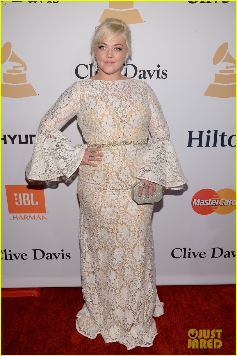 Ellie Goulding Amp Elle King Prep For Grammys At Clive Davis