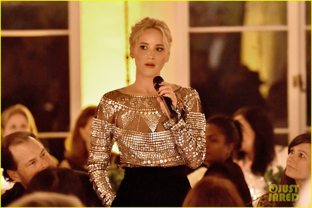 jennifer lawrence stuns at patricia arquettes dinner equality 213589381