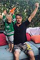 josh duhamel celebrates hockey win son axl 03