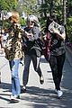 khloe kardashian kendall jenner kylie jenner disguise run from photographers 20