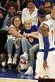 miley cyrus knicks game brandi courtside 01