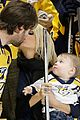 carrie underwood baby isaiah support mike fisher at 1000th nhl game 01