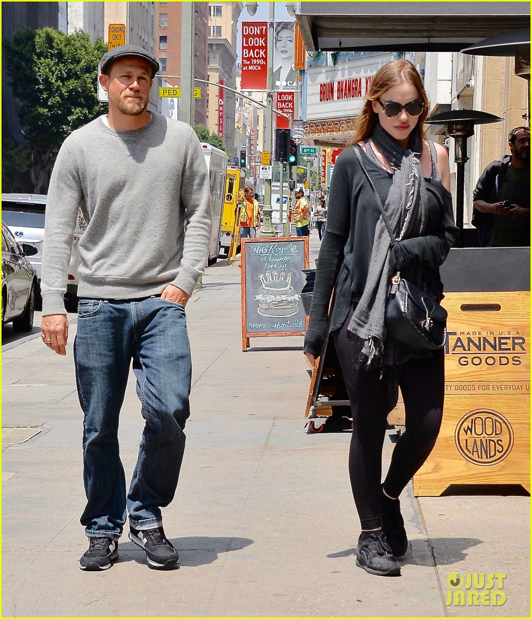 Charlie Hunnam Smiles Away During Outing with Girlfriend ...