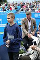 david beckham takes in a tennis match with son romeo 25