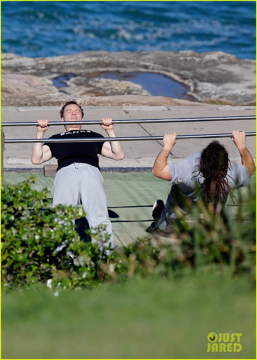 Michael Fassbender & Alicia Vikander Work On Their Fitness Together! Michael Fassbender