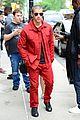 nick jonas red suit aol build appearance 08