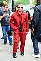 nick jonas red suit aol build appearance 12