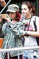 lily collins nose ring okja set filming 05