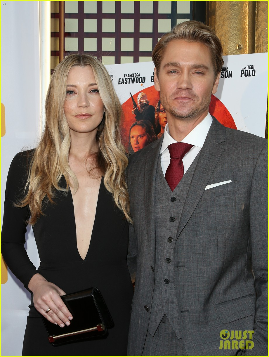 chad michael murray gets support from awesome wife sarah roemer at outlaws angels 373705275