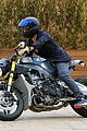 orlando bloom takes his motorcyle to malibu 16