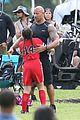 dwayne johnson gets pumped for fast 8 soccer scene 28