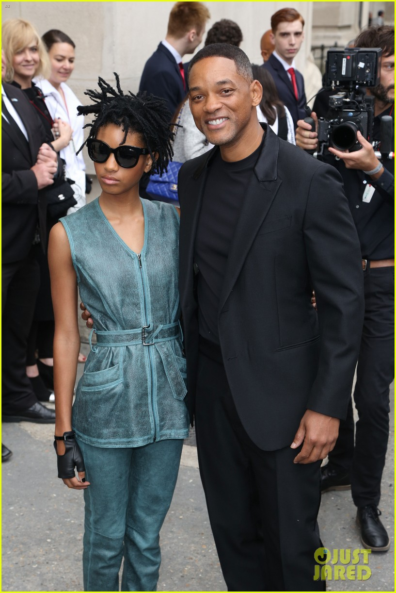 Will Smith & Daughter Willow Attend 'Chanel' Haute Couture ...