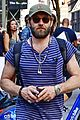 joel edgerton sports stripes while out and about in soho 04