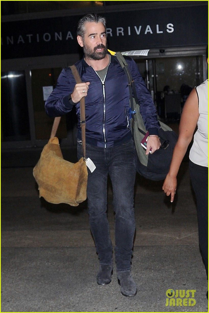 colin farrell sports gray hair during his latest outing 053726425
