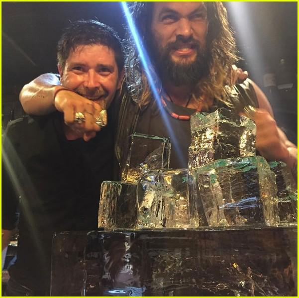 Jason Momoa Gave Aquaman Kiss For His Wife At The Movie: Jason Momoa Goes Shirtless At His Birthday Party With