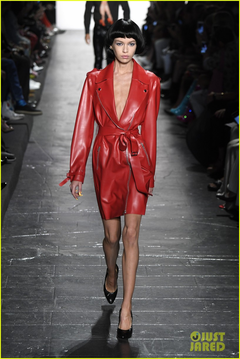 hailey baldwin walks jeremy scott prabal gurung 123757521