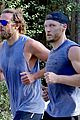 bradley cooper wears hair in man bun for morning run 02