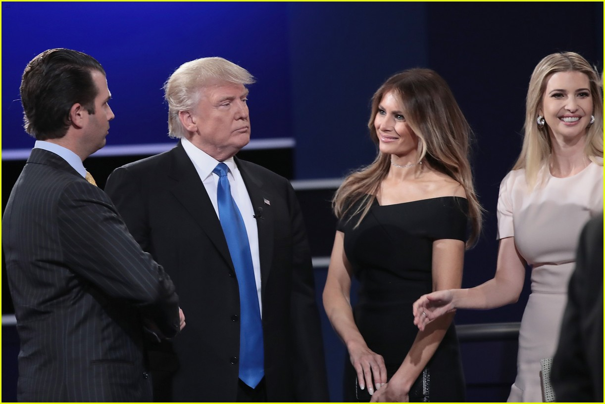 hillary clinton donald trump joined by families on stage at debate 023770862