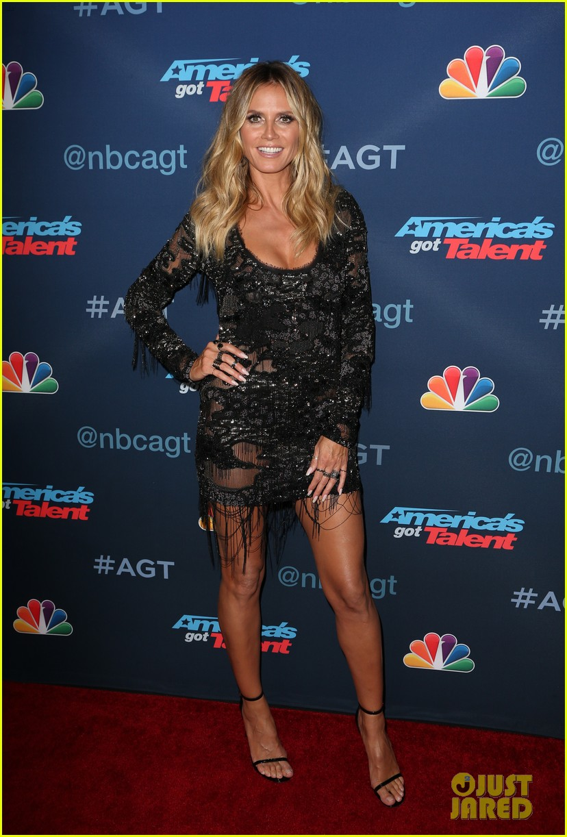 Americas Got Talents Heidi Klum and Mel B wear black to