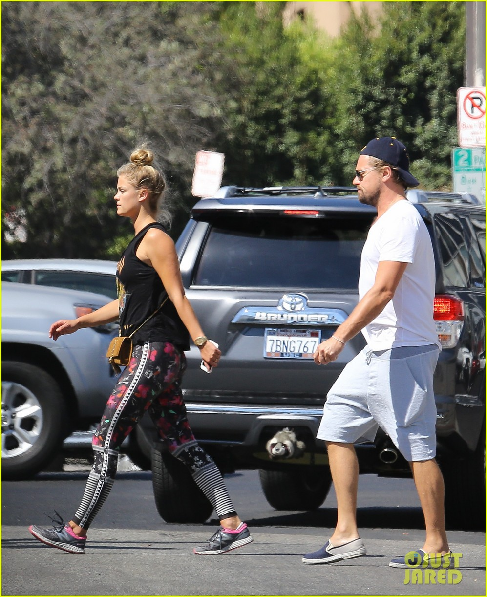 Leonardo DiCaprio & Nina Agdal Hold Hands After Brunch Leonardo Dicaprio
