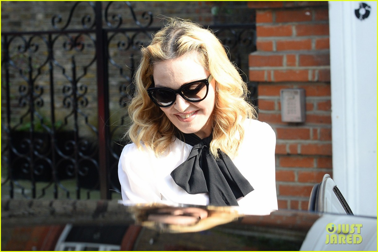 madonna visits london rocco school alone 183760706