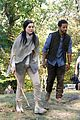 jaimie alexander crawls around the woods while filming for blindspot 06