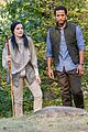 jaimie alexander crawls around the woods while filming for blindspot 07